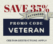 Save with promo code VETERAN